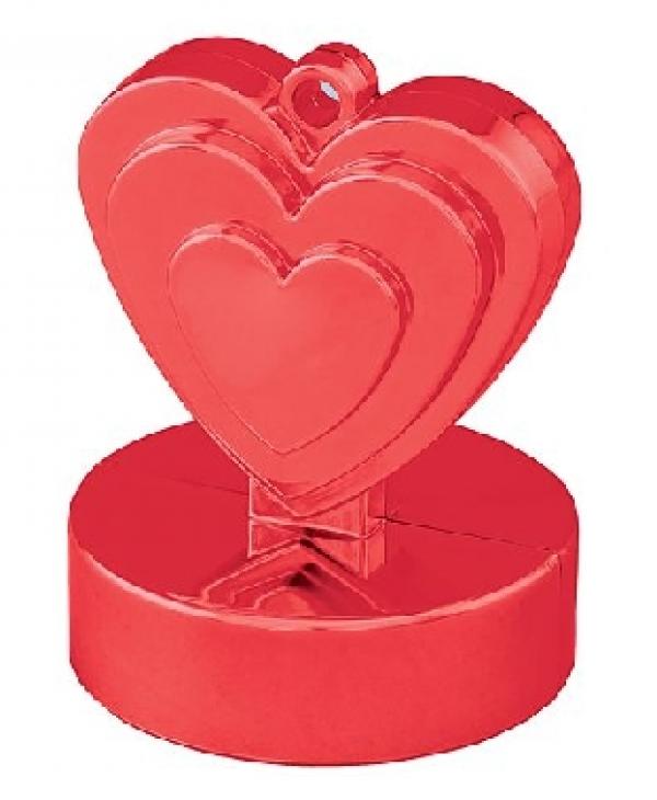 "Balonu atsvars ""Sirds"", sarkanā krāsa"