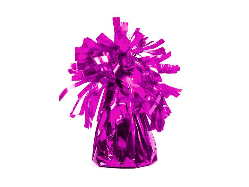 Balonu atsvars spilgti rozā krāsā.