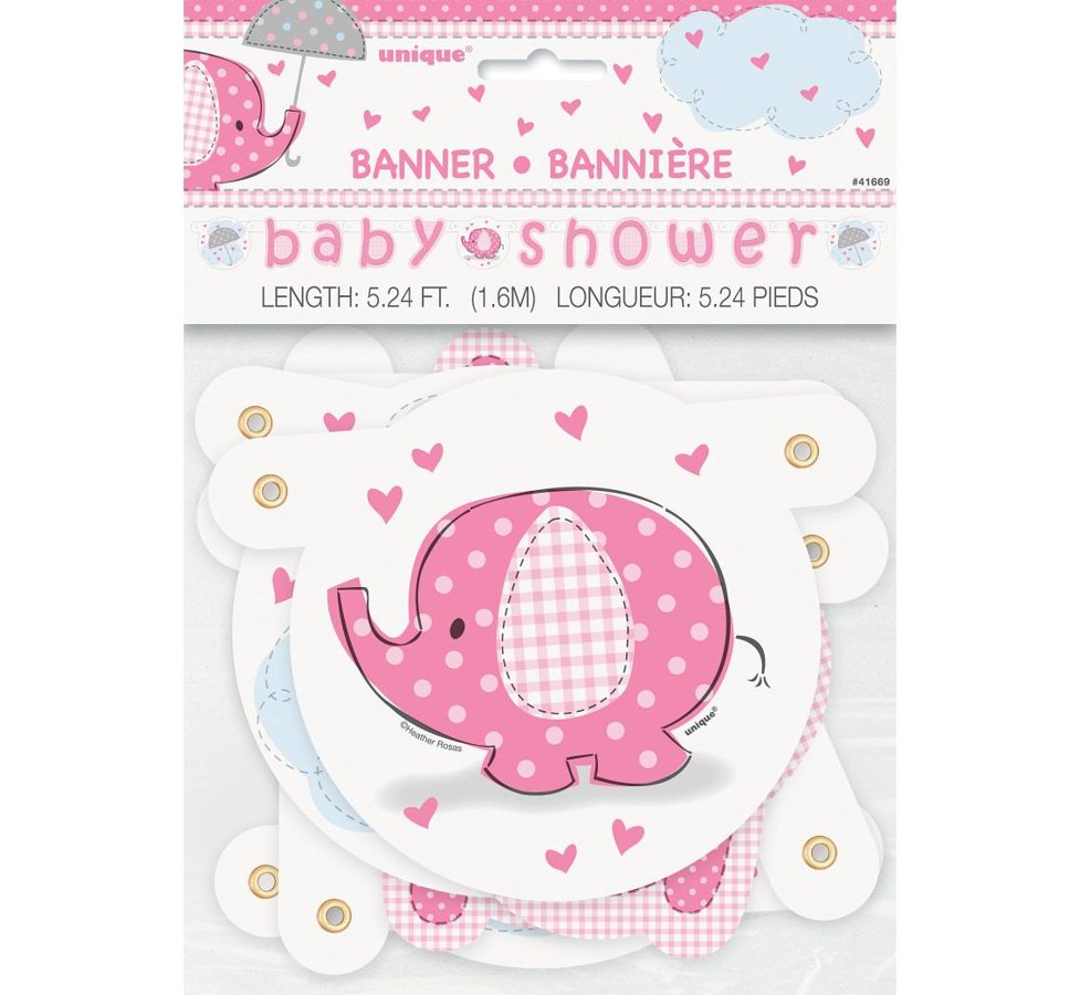 "Baneris ""Baby Shower"", rozā"