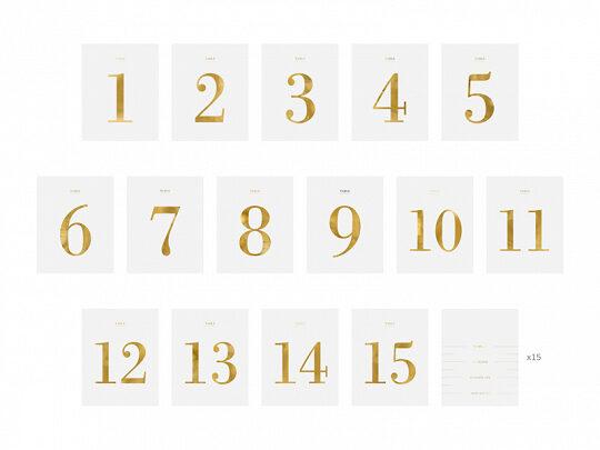 """Galda numuri """"Pudeļu stikeri"""" no 1 līdz 15"""