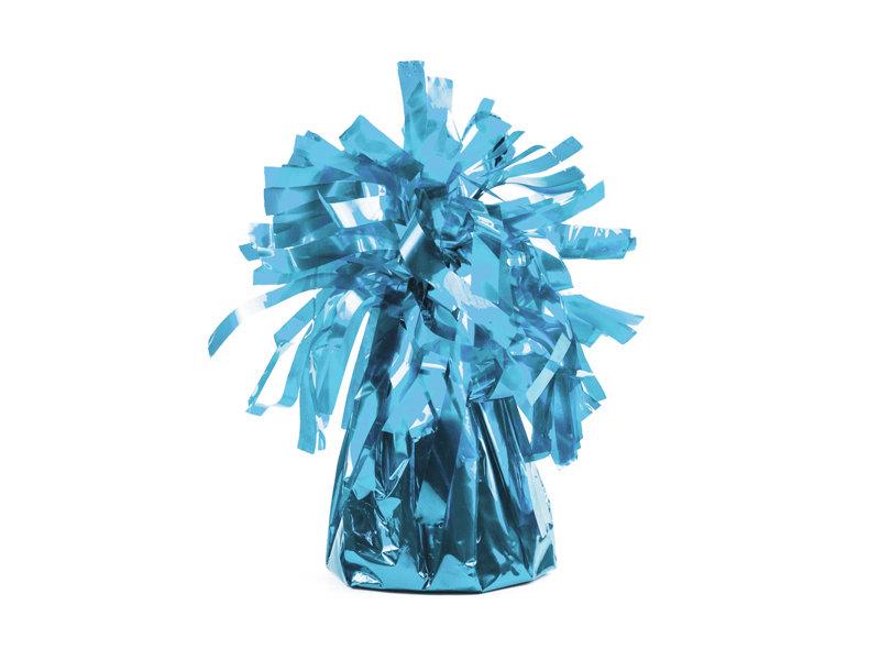 Balonu atsvars gaiši zilā krāsā.