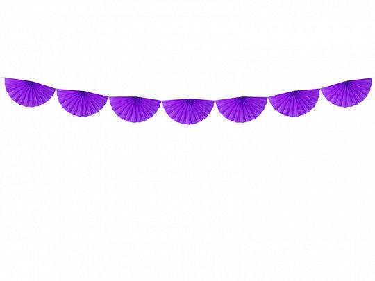Virtene no dekoratīvām rozetēm violetā krāsā, 40 cm