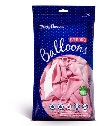 Balonu iepakojums, 100 gb., 30 cm, gaiši rozā krāsa