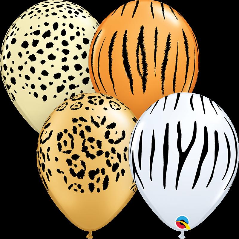 "28 cm lateksa balons ""Safari"" - 1 gb."