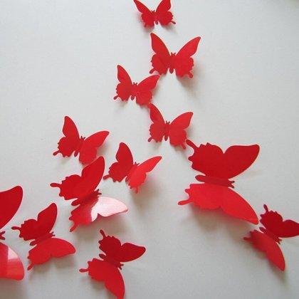 Taureņi, sarkanā krāsā no vinila, 12 gb