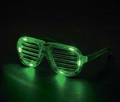 Mirdzošās brilles, zaļā krāsā.