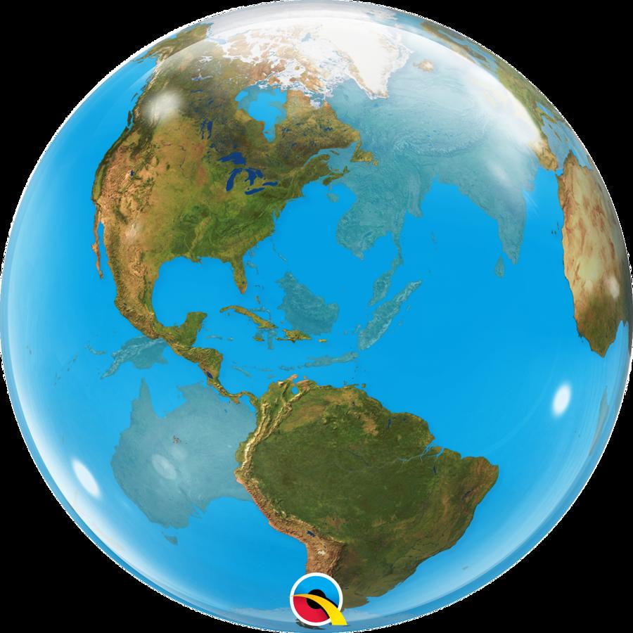 "Bubble balons ""Zemes lode"", apaļš, 56 cm"