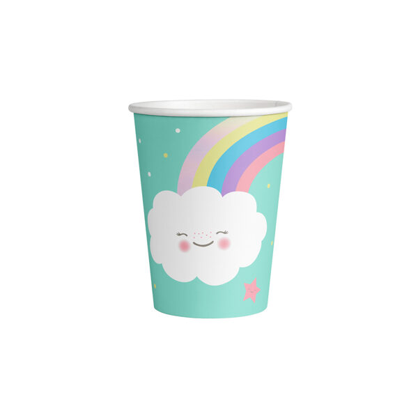 """Glāzes """"Mākonis un varavīksne"""", 8 gb, 250 ml"""