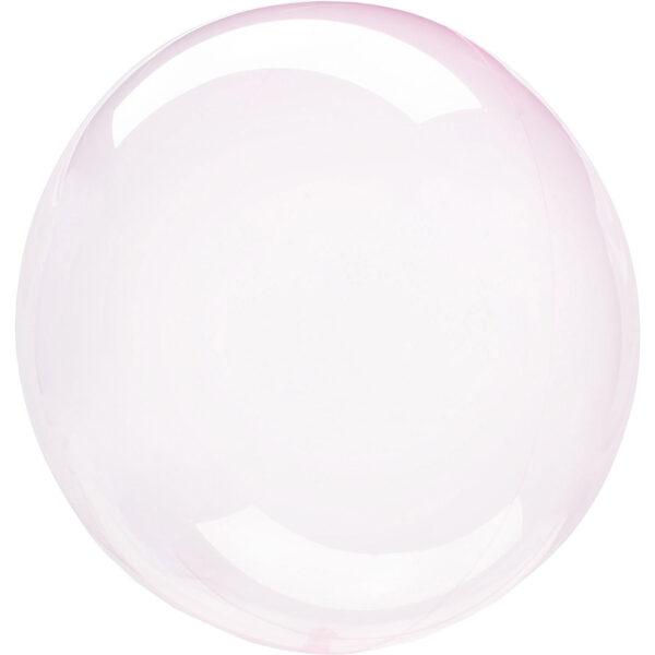 """Apaļš caurspīdīgs balons """"Clearz Crystal"""", rozā krāsa, 40-56 cm"""