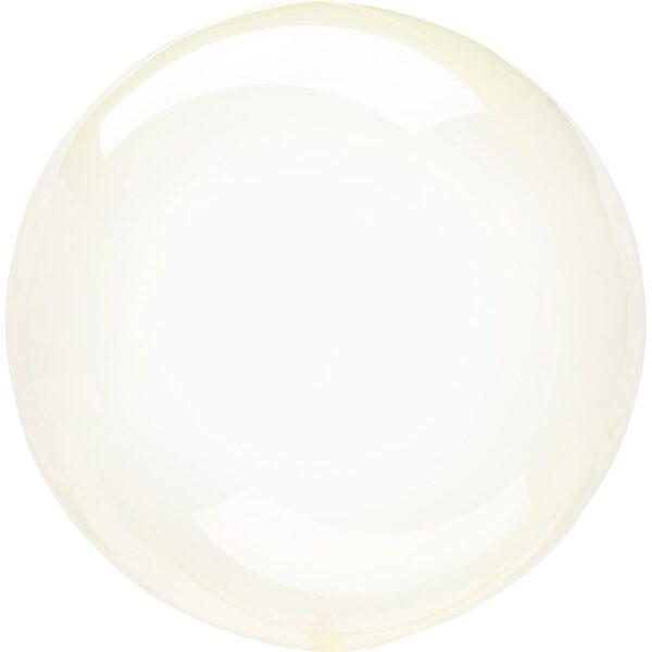 """Apaļš caurspīdīgs balons """"Clearz Crystal"""", dzeltenā krāsa, 40-56 cm"""