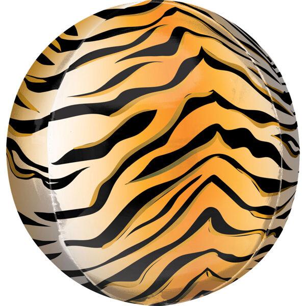 """Folija balons ORBZ """"Tīģeris"""", apaļš, 40 cm"""