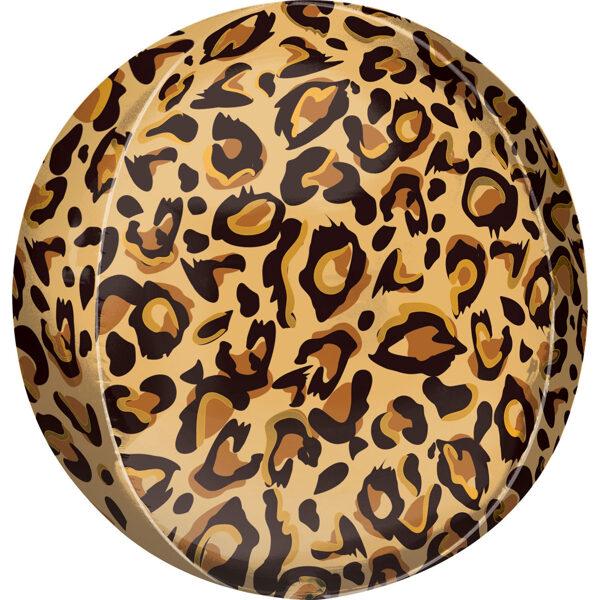 """Folija balons ORBZ """"Leopards"""", apaļš, 40 cm"""