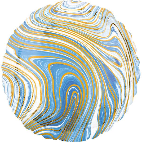 """Folija balons Marblez """"Aplis"""", 43 cm, zilā krāsa"""