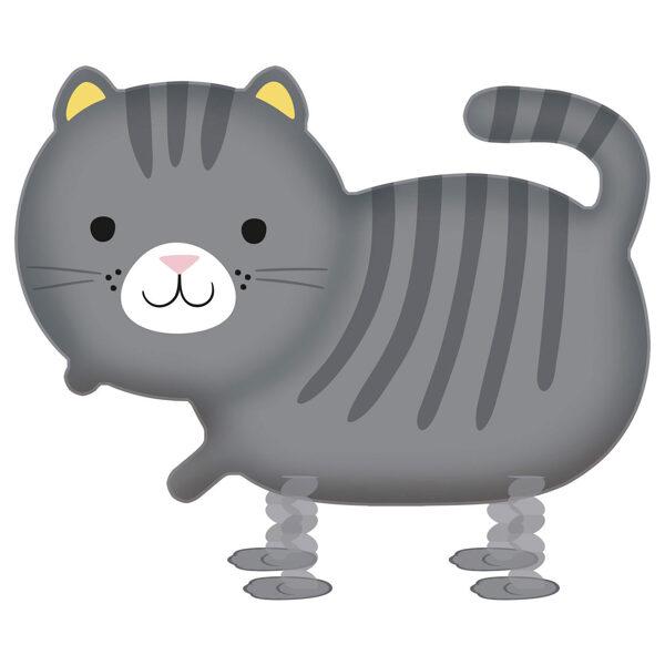 """Staigājošais folija balons """"Kaķis"""", 52 cm x 75 cm"""