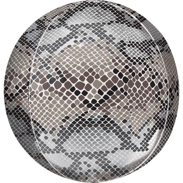 """Folija balons ORBZ """"Čūska"""", apaļš, 40 cm"""