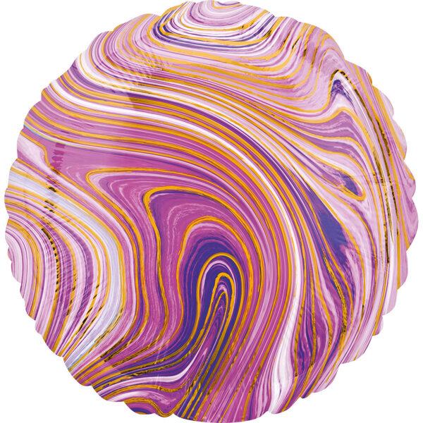 """Folija balons Marblez """"Aplis"""", 43 cm, lillā krāsa"""