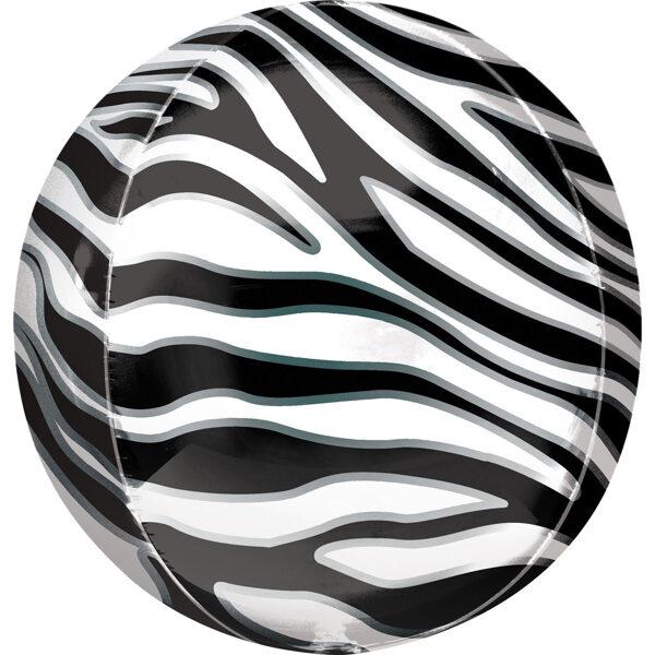 "Folija balons ORBZ ""Zebra"", apaļš, 40 cm"