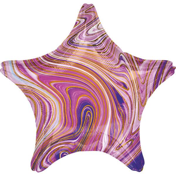 """Folija balons Marblez """"Zvaigzne"""", 43 cm, lillā krāsa"""