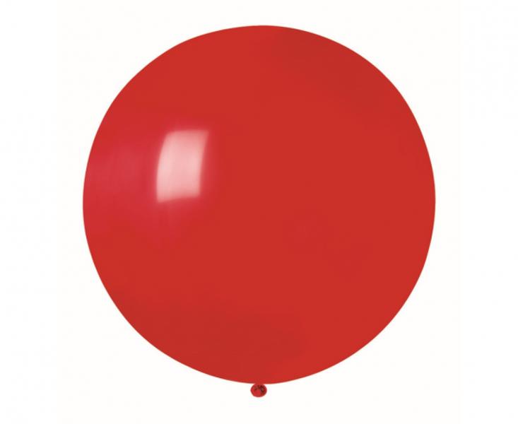 60 cm lateksa balons, sarkanā krāsa, Gemar - 1 gb.