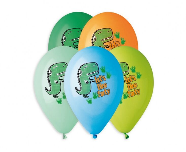 "30 cm lateksa balons ""Let's Dino Party"" - 1 gb."