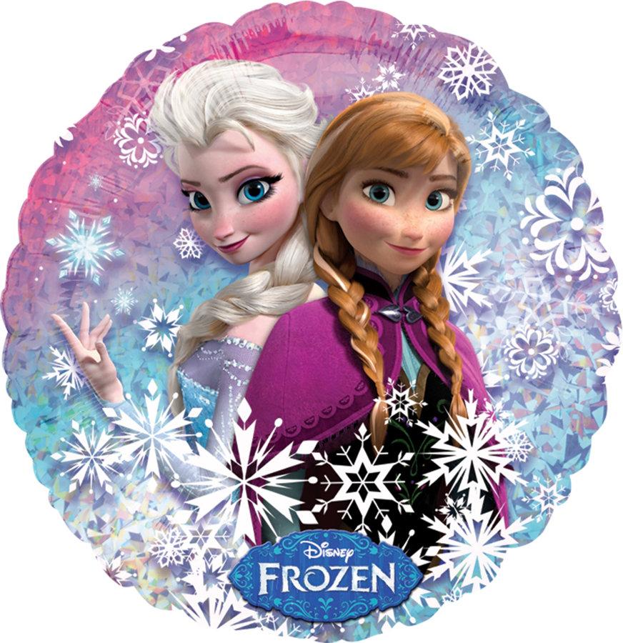 """Folija balons """"Frozen - Anna un Elsa"""", apaļš, 43 cm"""