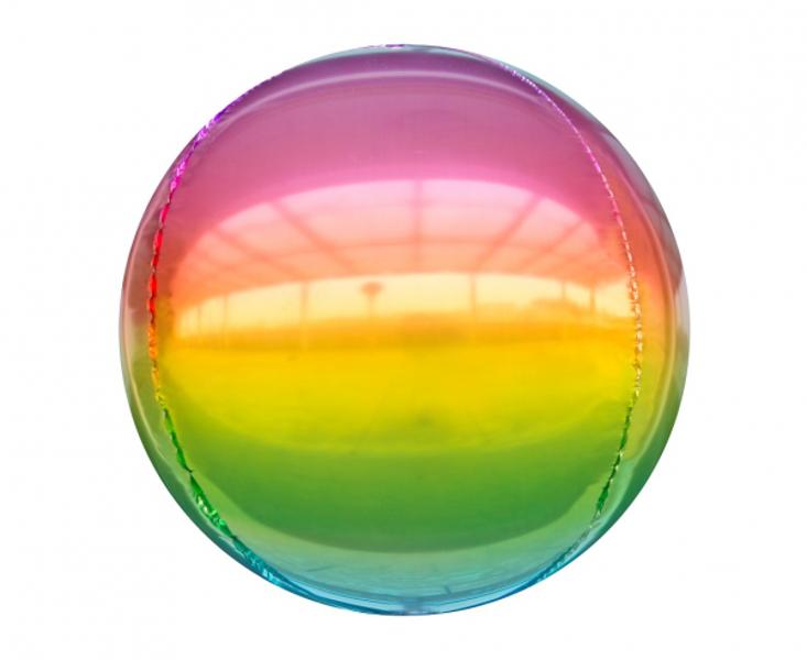 "Folija balons ""Krāsaina bumba"", apaļš, 40 cm"