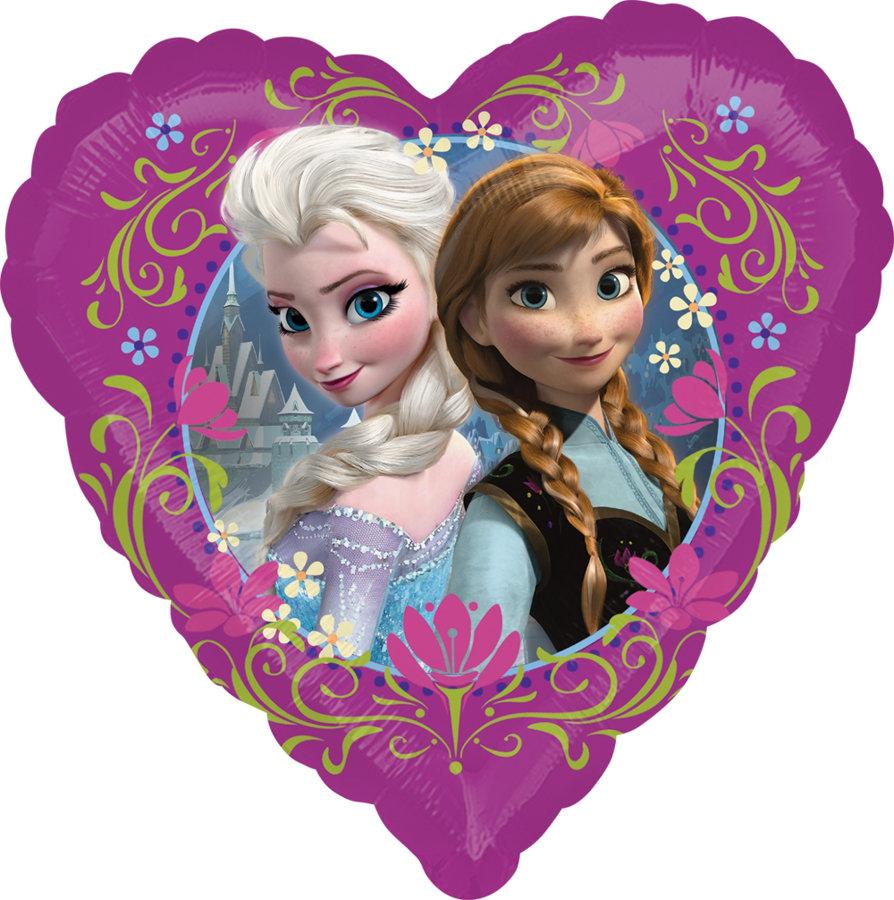 "Folija balons ""Frozen"", sirds formā, 43 cm"