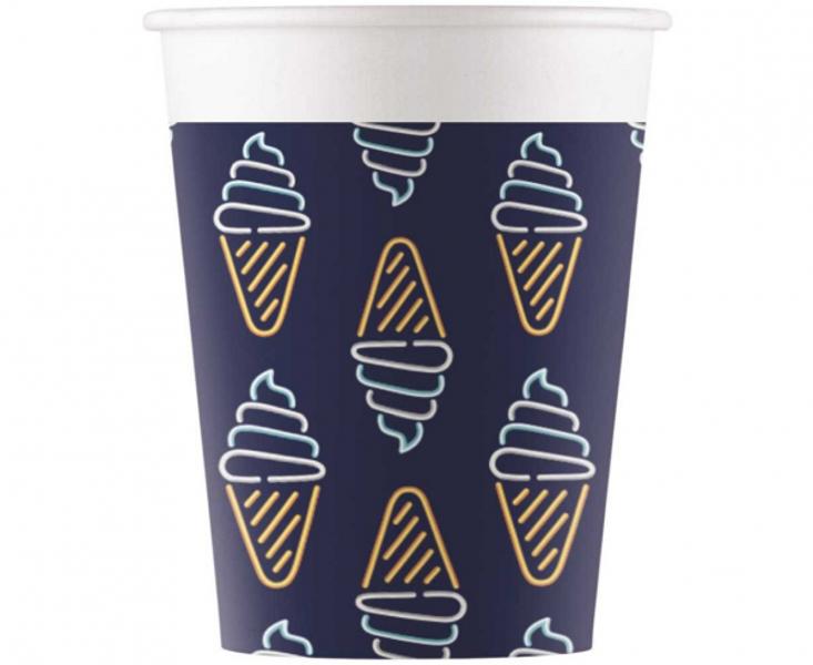 """Glāzes """"Neon - saldējums"""", 8 gb, 200 ml"""