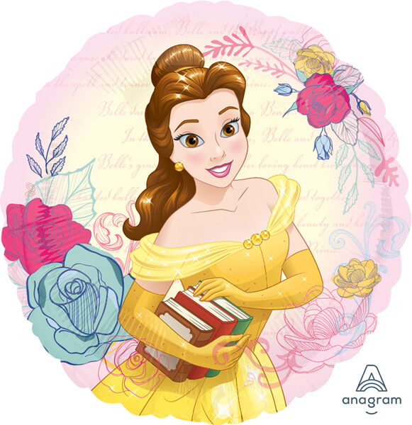 """Folija balons """"Bella - disneja princese"""", apaļš, 43 cm"""