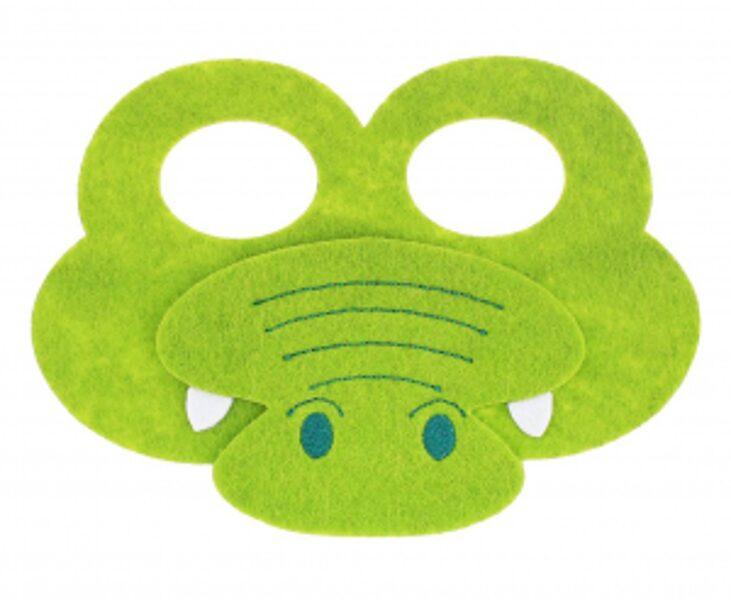 """Filca maska """"Krokodīls"""", 12.5 x 17.5 cm, 1 gb"""