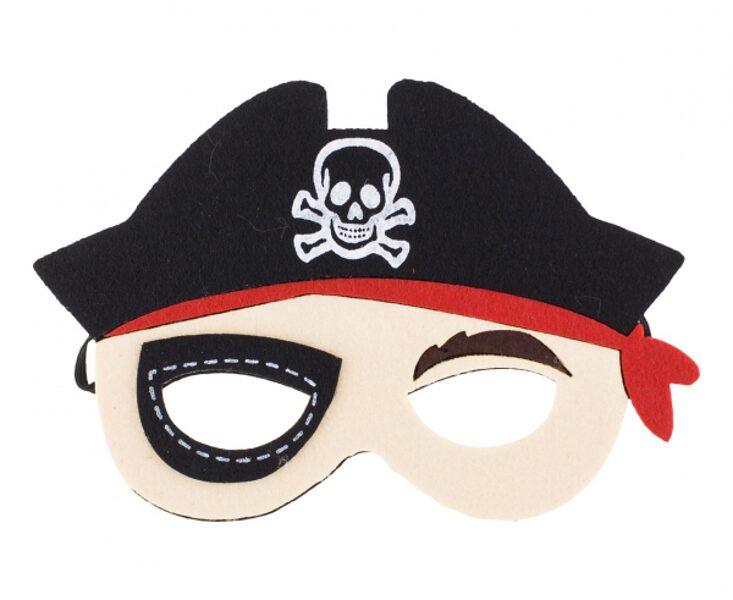 """Filca maska """"Pirāts"""", 19.5 x 13 cm, 1 gb"""