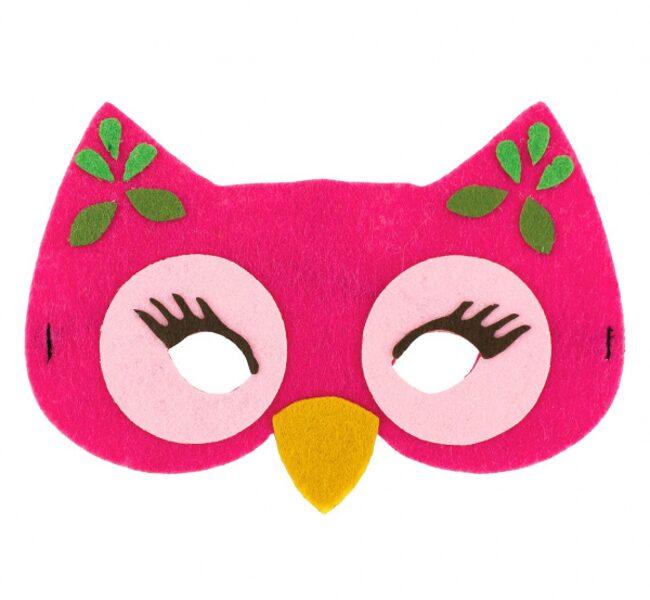 "Filca maska ""Rozā pūcīte"", 17 x 12 cm, 1 gb"
