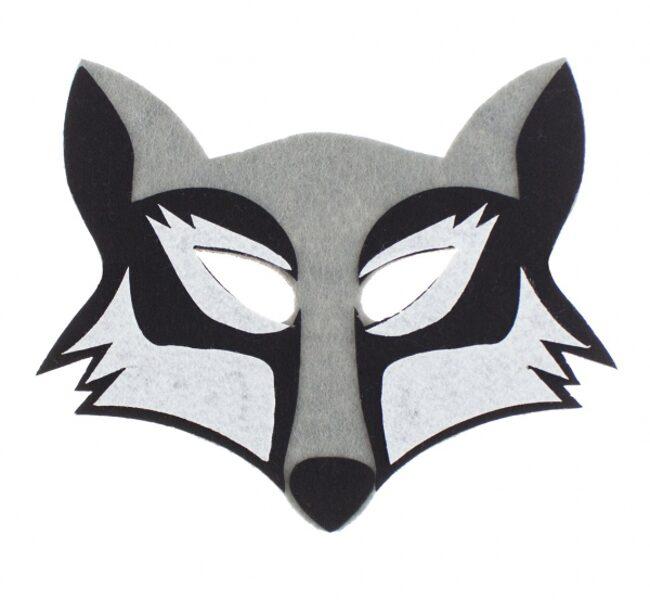 "Filca maska ""Vilks"", 19.5 x 17 cm, 1 gb"