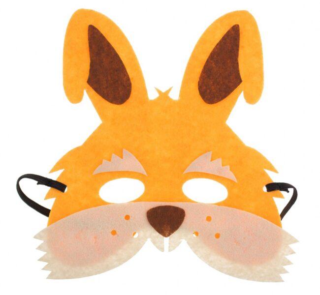 """Filca maska """"Zaķis"""", 18 x 19 cm, 1 gb"""