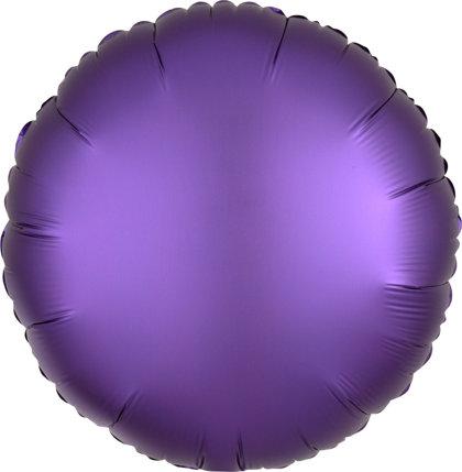"""Matēts folija balons """"aplis"""" Satyna Lux, 43 cm, lillā krāsa"""