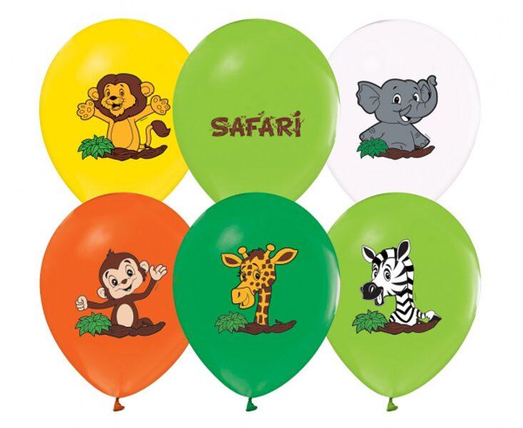 "30 cm lateksa balons ""Safari"" - 1 gb."