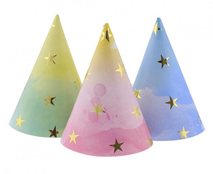 """Papīra cepures """"Asorti ar zvaigznītēm"""", 6 gb"""
