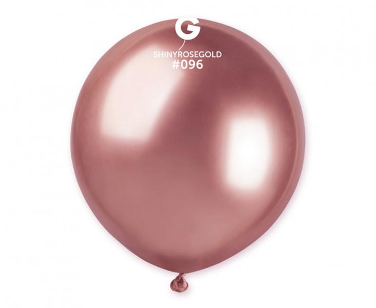 48 cm hromēts balons, rozā zelts - 1 gb.