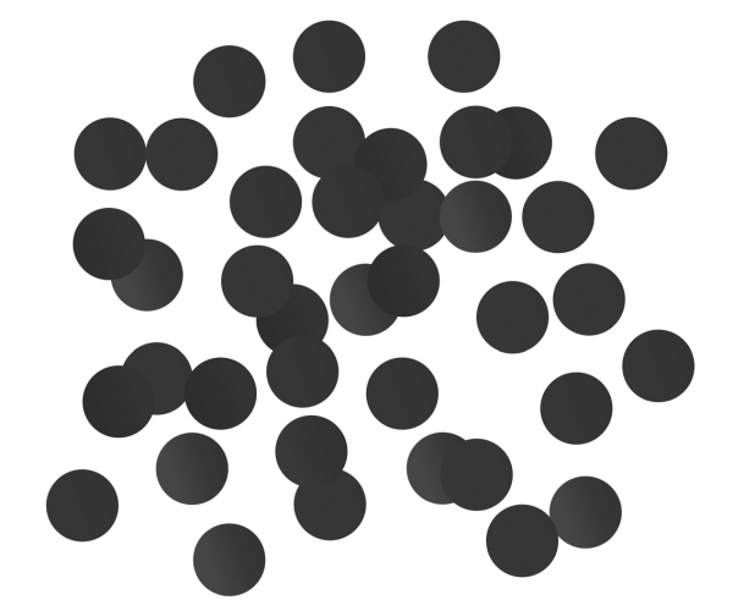 Folija konfetti aplīši, melnā krāsā, 18 g