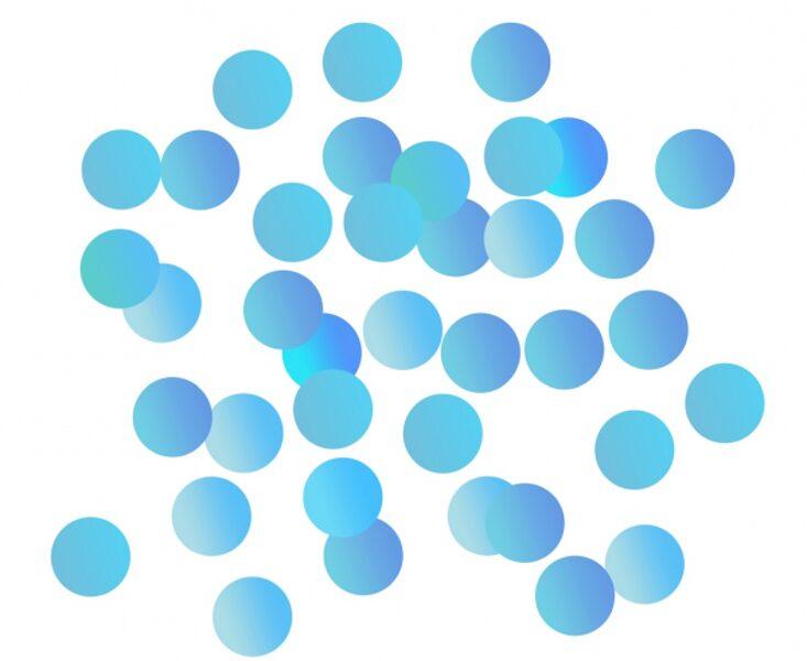 Folija konfetti aplīši, zilā krāsā, 18 g