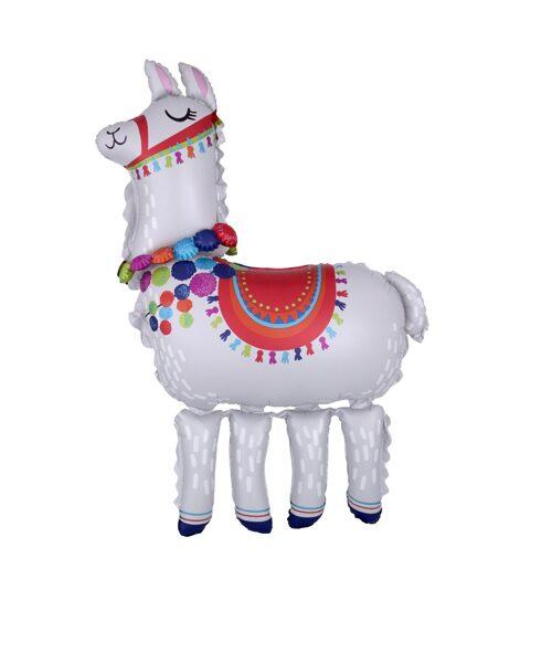 """Staigājošais folija balons """"Llama"""", 96 cm x 147 cm"""