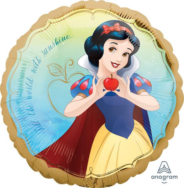 "Folija balons ""Sniegbaltīte - disneja princese"", apaļš, 43 cm"