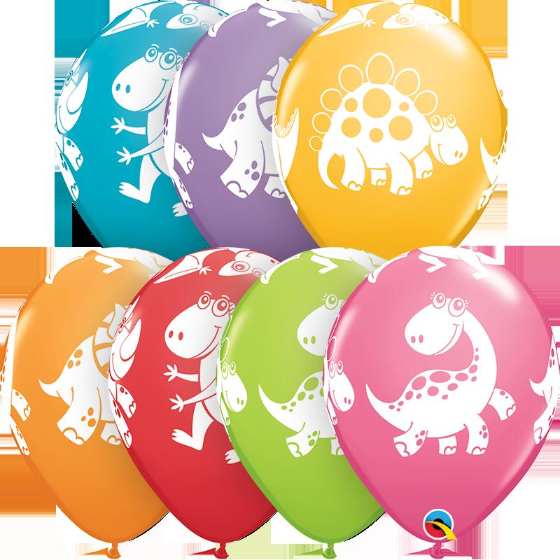 "28 cm lateksa balons ""Jautri dinozauri"" - 1 gb."