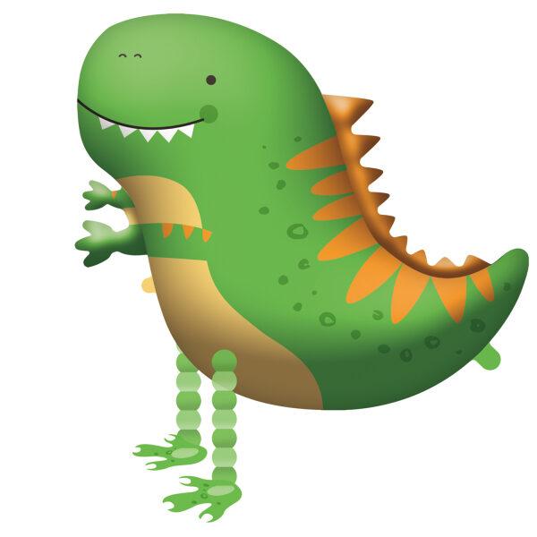 """Staigājošais folija balons """"Dinozaurs"""", 65 cm x 75 cm"""