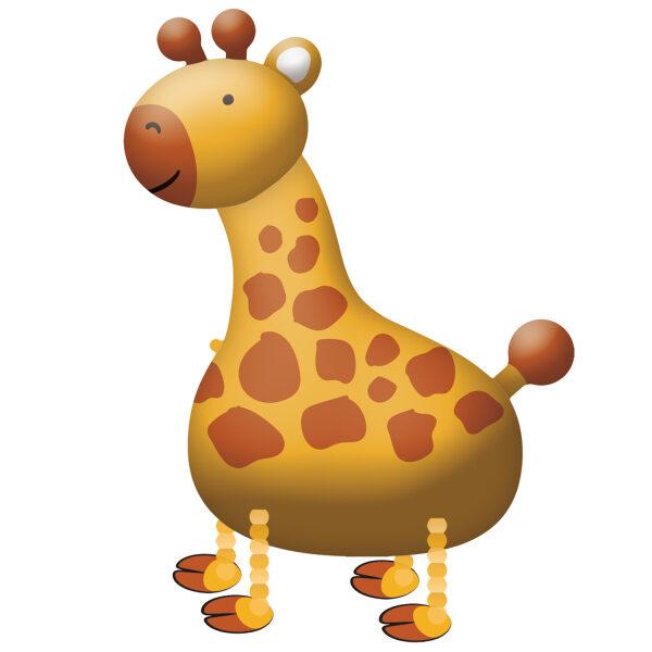 """Staigājošais folija balons """"Žirafe"""", 89 cm x 109 cm"""