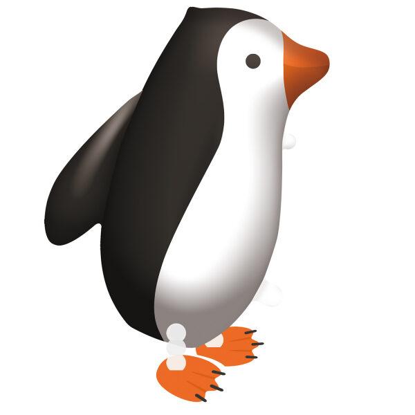 """Staigājošais folija balons """"Pingvīns"""", 57 cm x 47 cm"""