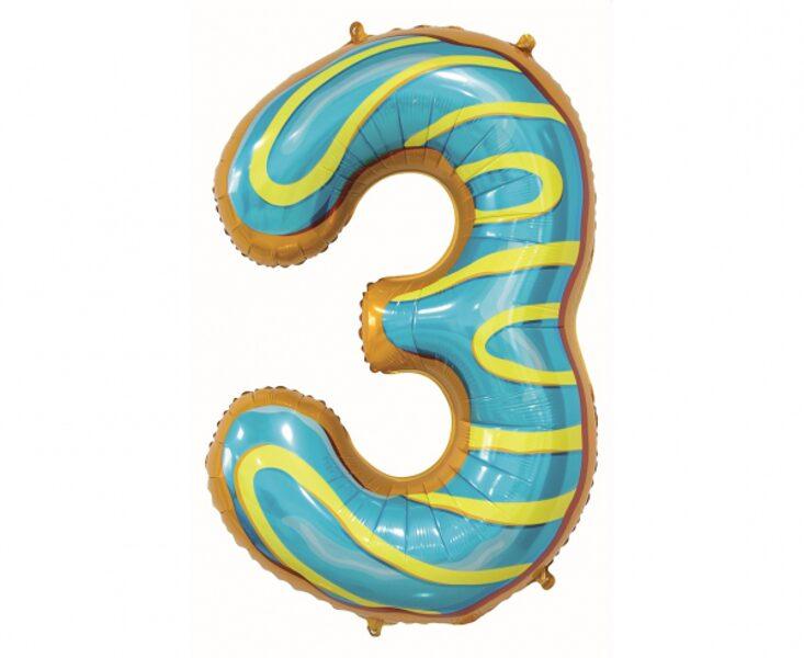 "Folija balons ""3 - Saldais virtulis"", 78 cm"