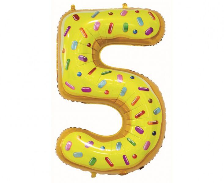 "Folija balons ""5 - Ar konfektēm"", 78 cm"
