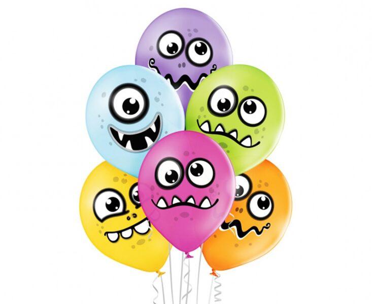 """30 cm lateksa balons """"Jautri briesmonīši"""" - 1 gb."""
