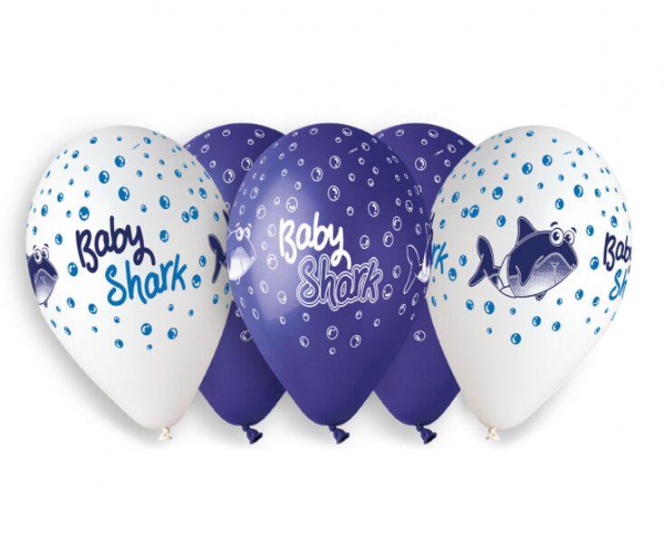 "30 cm lateksa balons ""Baby shark"" - 1 gb."